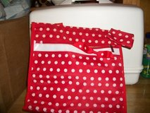 #6300 LADIES RED AND PINK POLKA DOT TOTE PURSE /MATCHING CHANGE PURSE in Fort Hood, Texas